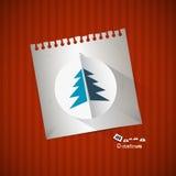 Fondo de papel de la Navidad Imagen de archivo libre de regalías