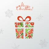 Fondo de papel de la Navidad stock de ilustración