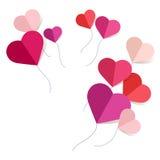 Fondo de papel de los corazones Stock de ilustración