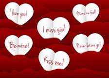 Fondo de papel de los corazones Imagen de archivo