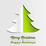 Fondo de papel del árbol de navidad Fotografía de archivo