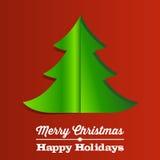 Fondo de papel del árbol de navidad Imagenes de archivo