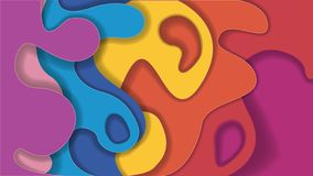 Fondo de papel del arco iris ilustración del vector