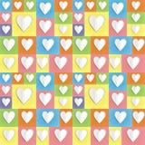 Fondo de papel del corazón del color Imagen de archivo