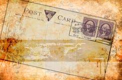 Fondo de papel del Grunge y postal vieja Imágenes de archivo libres de regalías