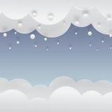 Fondo de papel del invierno con nieve que cae Imagenes de archivo