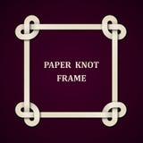 Fondo de papel del marco del nudo Foto de archivo libre de regalías