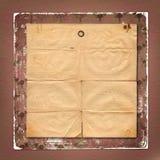 Fondo de papel enajenado con el ornamental para el aviso Imagen de archivo libre de regalías