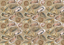 Fondo de papel envejecido ostras libre illustration