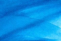 Fondo de papel explorado acuarela azul de la textura Imagen de archivo libre de regalías