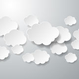 Fondo de papel flotante de las nubes Fotografía de archivo