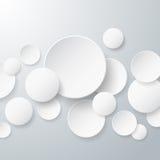 Fondo de papel flotante de los círculos Imagen de archivo libre de regalías