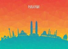 Fondo de papel global del viaje y del viaje de la señal de Malasia VE libre illustration