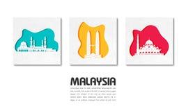 Fondo de papel global del viaje y del viaje de la se?al de Malasia Modelo del dise?o del vector utilizado para su anuncio, libro, libre illustration