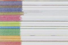 Fondo de papel lateral de la textura de las hojas del color Fotografía de archivo