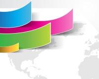 Fondo de papel multicolor del vector Eps10 Imágenes de archivo libres de regalías