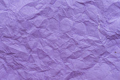 Fondo de papel púrpura arrugado de la textura Fotos de archivo
