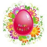 Fondo de Pascua con el huevo Fotos de archivo