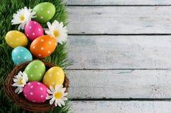 Fondo de Pascua con la hierba Fotos de archivo