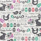 Fondo de Pascua con los bunnys y los huevos stock de ilustración