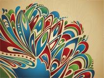 Fondo de Pascua con los elementos emplumados coloridos Imagen de archivo