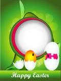 Fondo de Pascua con los huevos y los chikens Imagen de archivo libre de regalías