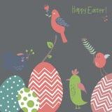 Fondo de Pascua con los pájaros de la primavera Fotografía de archivo