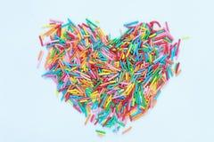 Fondo de pequeños elementos coloreados foto de archivo libre de regalías