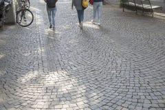 Fondo de piedra de la calle del adoquín, Colonia Imagen de archivo libre de regalías