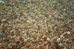 Fondo de piedra de la roca del guijarro Fotografía de archivo