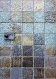 Fondo de piedra de la teja Foto de archivo libre de regalías