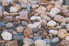 Fondo de piedra de la textura de la naturaleza de las rocas coloridas Imagenes de archivo