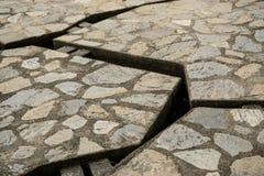 Fondo de piedra de la textura del camino Imágenes de archivo libres de regalías