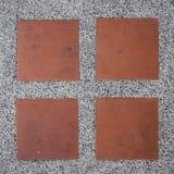 Fondo de piedra de la textura del camino de los guijarros Foto de archivo