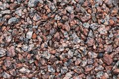 Fondo de piedra de la textura Grava machacada del granito Fotografía de archivo libre de regalías