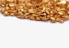 Fondo de piedra del oro Imagenes de archivo
