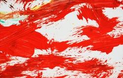 Fondo de pintura borroso blanco rojo de la acuarela, fondo de pintura abstracto de la acuarela fotografía de archivo libre de regalías