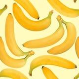 Fondo de plátanos amarillos Fotografía de archivo