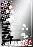 Fondo de plata 2 del cartel del Paintball Foto de archivo libre de regalías