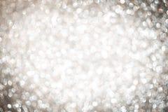Fondo de plata abstracto de la Navidad Imagen de archivo libre de regalías
