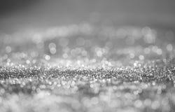 Fondo de plata abstracto del día de fiesta Imagen de archivo libre de regalías