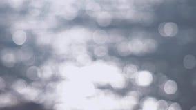 Fondo de plata abstracto hermoso del bokeh de las luces que brilla 3840x2160 metrajes