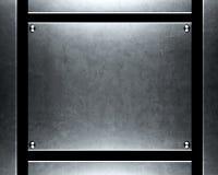 Fondo de plata aplicado con brocha del metal Imágenes de archivo libres de regalías