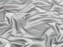 Fondo de plata brillante de la tela Imagen de archivo