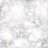 Fondo de plata con las estrellas y las luces twinkly libre illustration