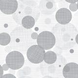Fondo de plata de Grey Circles Dots Seamless Pattern del vector con textura de la tela Perfeccione para el cuarto de niños neutra Foto de archivo