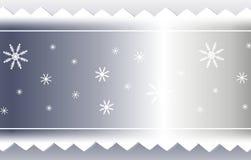 Fondo de plata de la cinta del copo de nieve y del diente de sierra ilustración del vector
