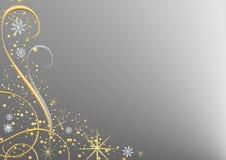 Fondo de plata de la Navidad Imagenes de archivo