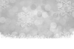 Fondo de plata de la Navidad Foto de archivo libre de regalías