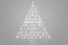 Fondo de plata de la Navidad Fotografía de archivo libre de regalías